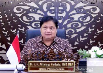 Airlangga: Kasus luar Jawa-Bali turun signifikan hingga 97 persen