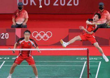 Hasil Olimpiade Tokyo: Langkah Marcus/Kevin Terhenti di Perempat Final