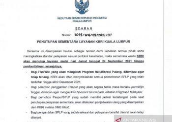 KBRI Kuala Lumpur tutup layanan sementara