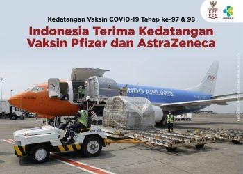 Kedatangan Vaksin COVID-19 Tahap ke-97 & 98: Indonesia Terima Kedatangan Vaksin Pfizer dan AstraZeneca