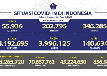 Kesembuhan COVID-19 Terus Bertambah Mencapai 3.996.125 Orang - Berita Terkini