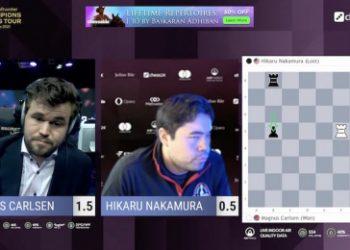MCCT Finals 5: Carlsen dominates Nakamura