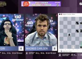 MCCT Finals 6: Carlsen stuns Giri with queen sac