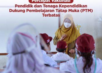 Pemda Diminta Percepat Vaksinasi untuk Pendidik dan Tenaga Pendidik Upaya Dukung Pembelajaran Tatap Muka (PTM) Terbatas