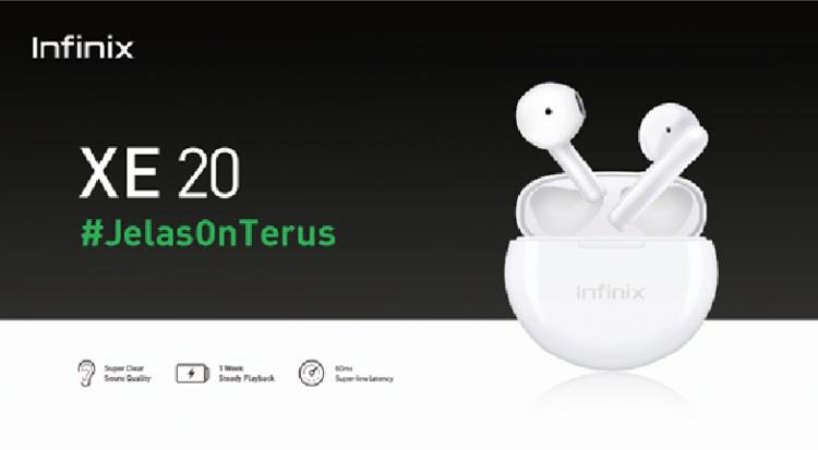 XE20 TWS Infinix resmi di Indonesia