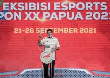 Siaran Pers : Buka Eksibisi E-Sports PON Papua, Menparekraf Optimistis Ekosistem E-Sports Indonesia Makin Kuat - PEDULI COVID19