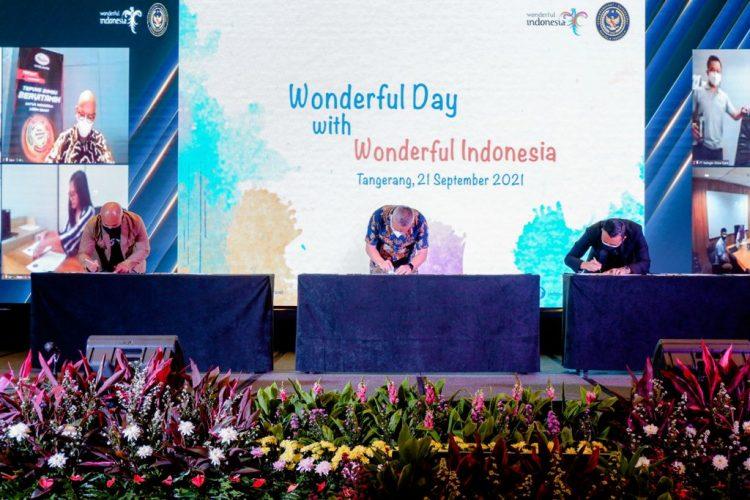 Siaran Pers: Perkuat Brand Equity Wonderful Indonesia, Program Kemitraan Co-Branding Kemenparekraf Gandeng 15 Mitra Baru - PEDULI COVID19