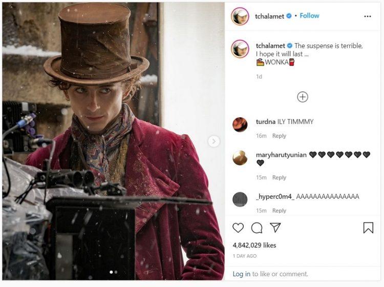 Instagram Timothee Chalamet