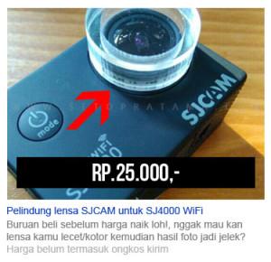 Jual pelindung lensa SJCAM SJ4000