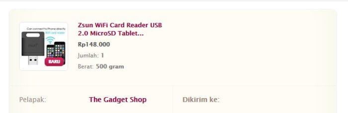 Jual ZSUN WiFi Card reader USB Murah