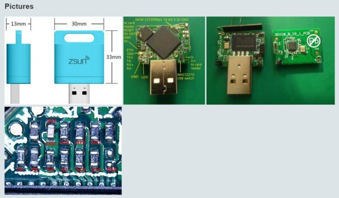 Zsun Hardware dan ukuran